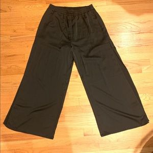 Pants - Satin joggers with side slits 1x